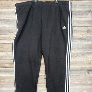 Adidas Black & White Men's Track Pants